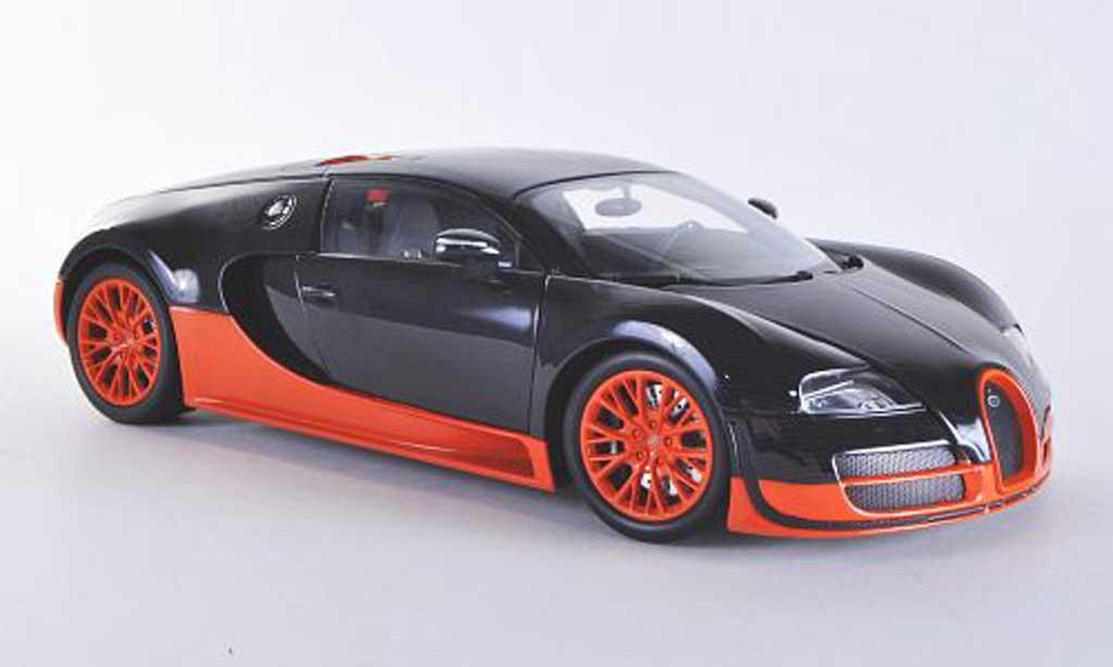 Bugatti Veyron Super Sport 1/18 Minichamps carbon/orange 2011 diecast model cars