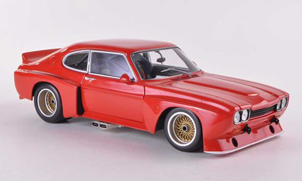 Ford Capri 3100 1/18 Minichamps  3100 rouge Plain Body Version  1974 miniature