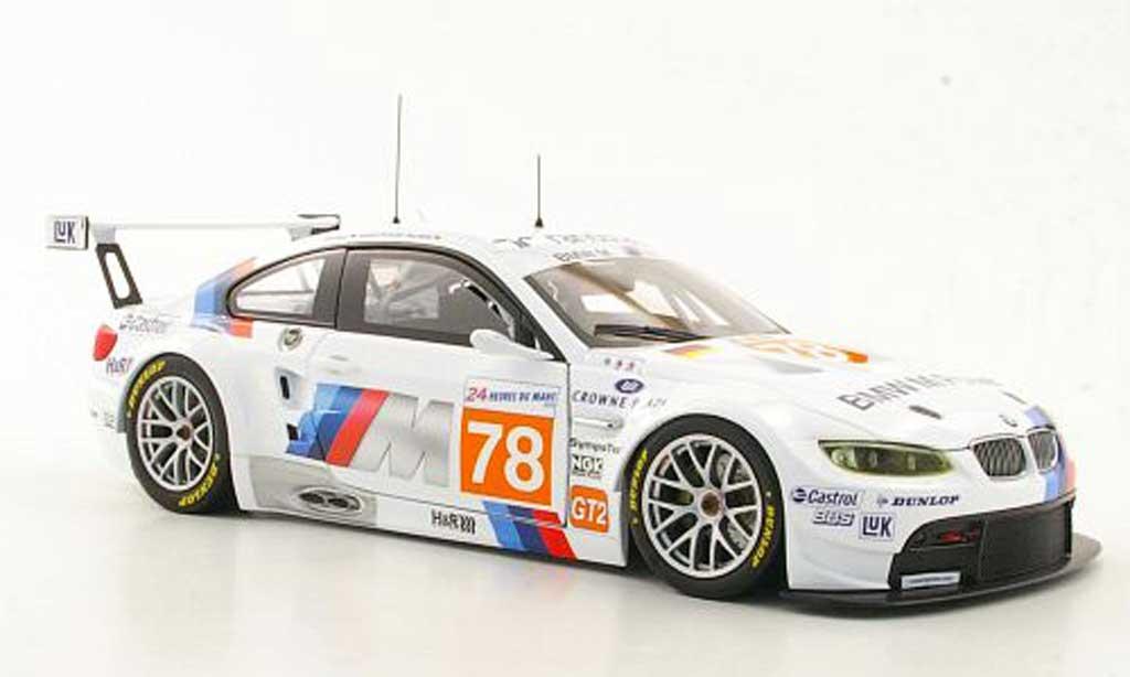Bmw M3 E92 1/18 Minichamps GT2 Motorsport Mueller / Farfus / Alzen24h Le Mans 2010 diecast model cars