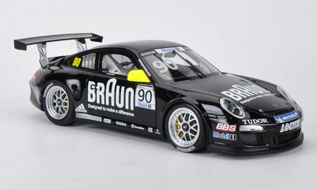 Porsche 997 GT3 CUP 1/18 Minichamps GT3 Cup 2010 No.90 Braun Vip - Supercup diecast model cars