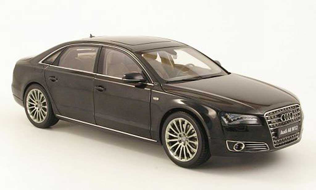 Audi A8 W12 1/18 Kyosho l (d4) nero 2010 miniatura