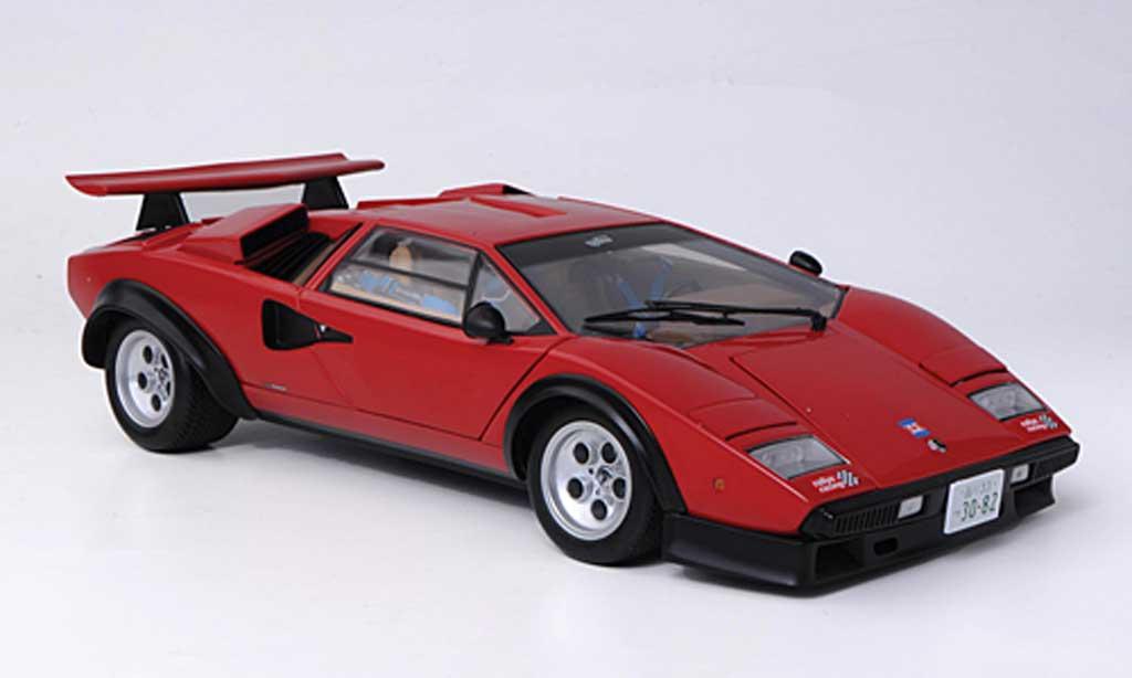 Lamborghini Countach 5000 S 1/18 Kyosho Walter Wolf rouge miniature