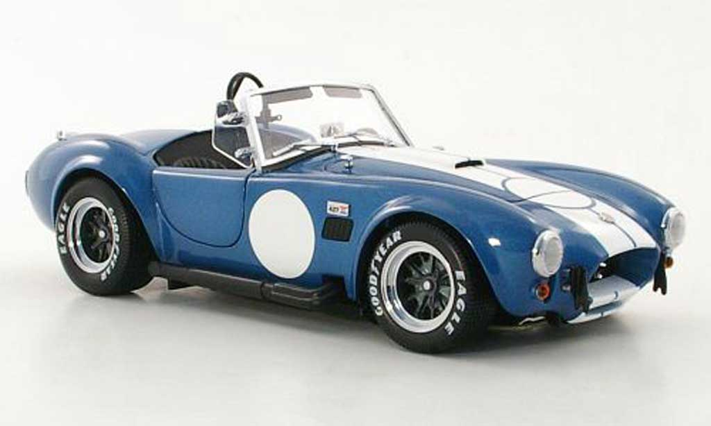 Shelby Ac Cobra 1/18 Kyosho Cobra 427 S/C bleu/blanche miniature