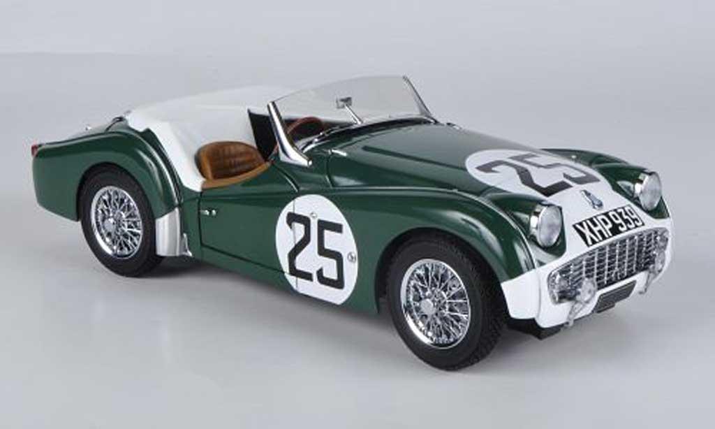 Triumph TR3 S 1/18 Kyosho No.25 24h Le Mans 1959 miniature