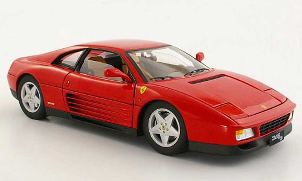 Ferrari 348 TB 1/18 Hot Wheels Elite rot 1989 modellautos