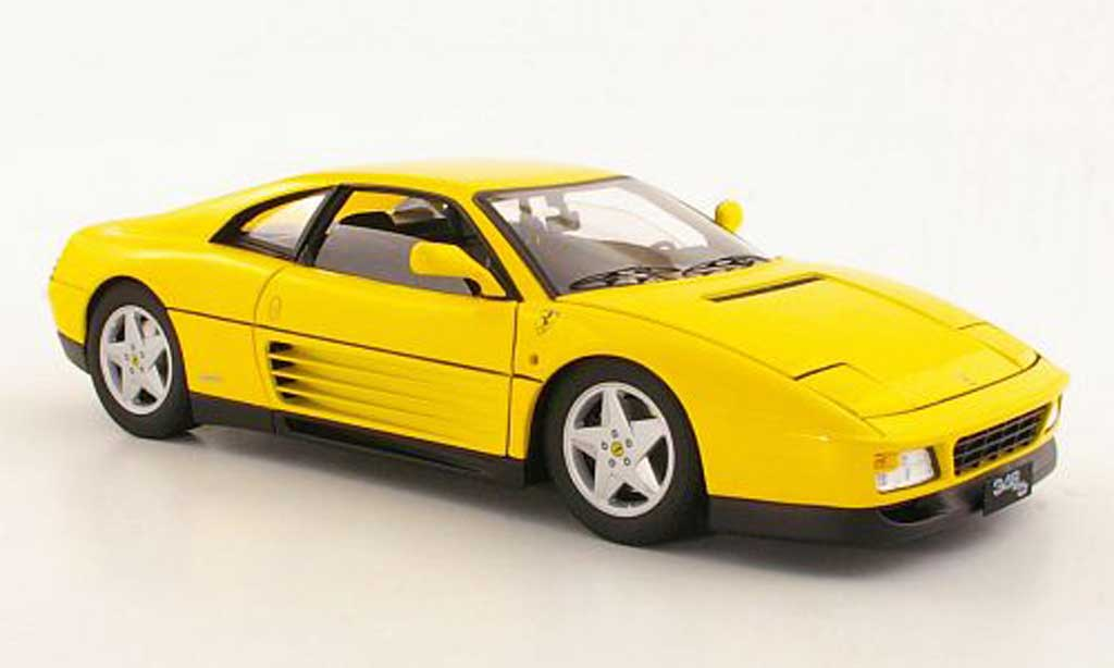 Ferrari 348 TB 1/18 Hot Wheels Elite gelb 1989 modellautos