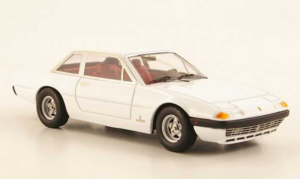 Ferrari 365 GT4 2+2 1/43 Hot Wheels Elite  blanche (Elite) miniature