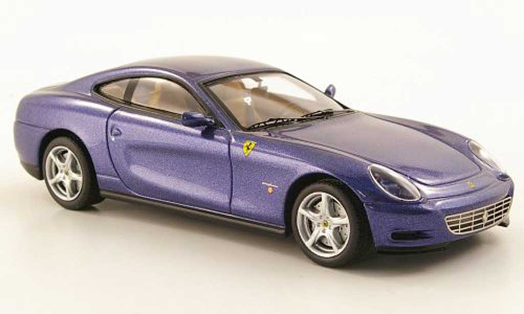 Ferrari 612 1/43 Hot Wheels Elite Scaglietti bleu (Elite) diecast