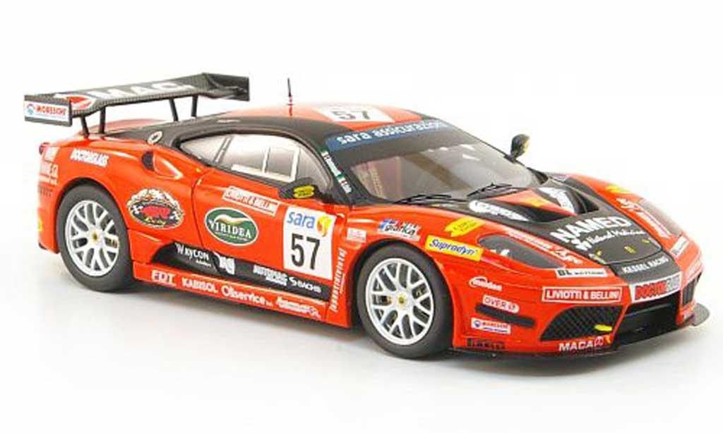 Ferrari F430 GT3 1/43 Hot Wheels Elite No.57 Kessel Racing Italian Championship (Elite) 2009 miniature