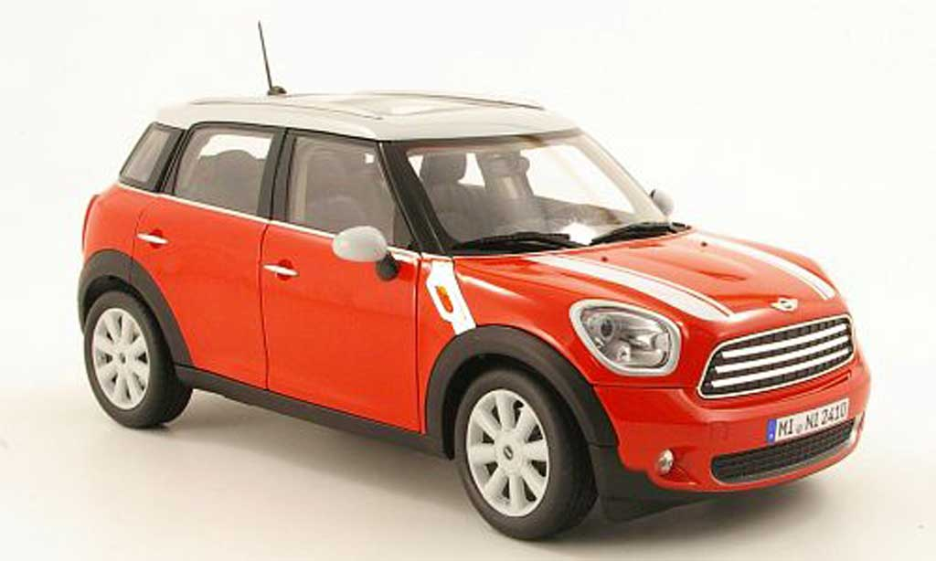 Mini Countryman 1/18 Norev rouge/grise 2010 miniature
