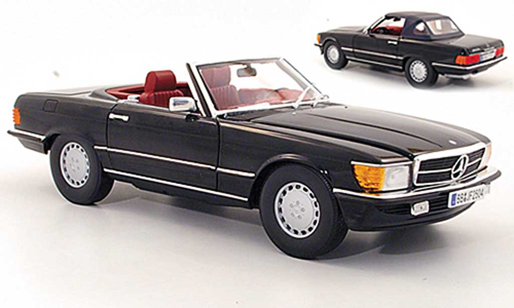 Mercedes 300 1/18 Norev SL (R107) noire 1978 miniature