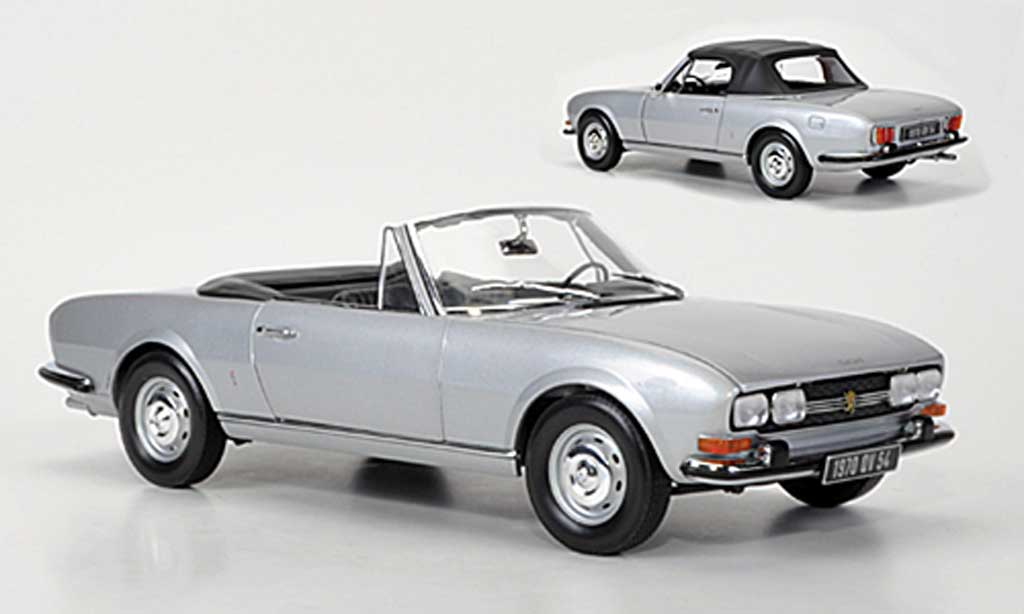 Peugeot 504 Cabriolet 1/18 Norev gray metallisee gray 1971 diecast