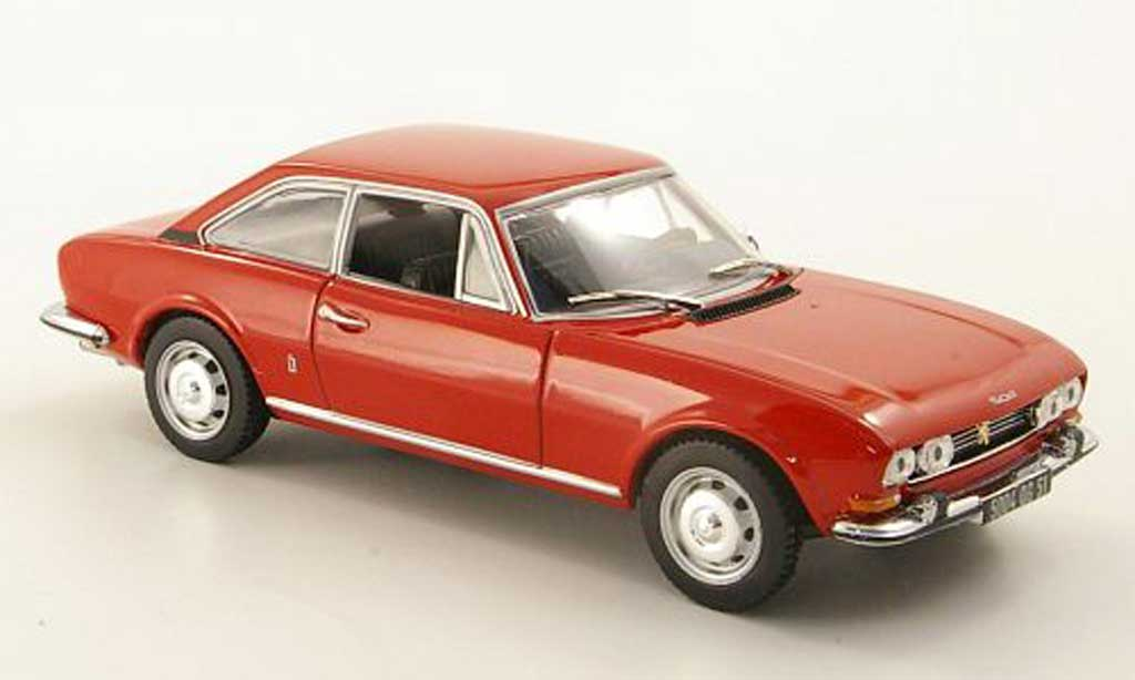Peugeot 504 coupe 1/43 Norev rouge 1969