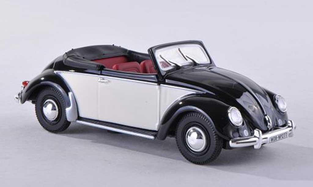 Volkswagen Coccinelle 1/43 Norev cabriolet black/beige  1949 diecast
