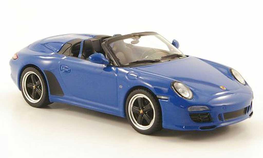 Porsche 997 S 1/43 Minichamps peedster (II) bleu 2010 diecast model cars