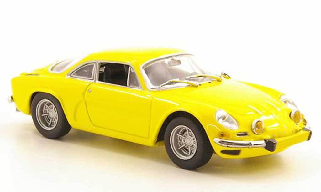 Alpine A110 1/43 Minichamps yellow 1971 diecast