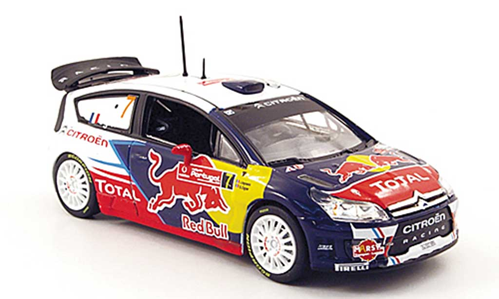 Citroen C4 WRC 2010 1/43 Norev No.7 Red Bull Rally de Portugal miniature