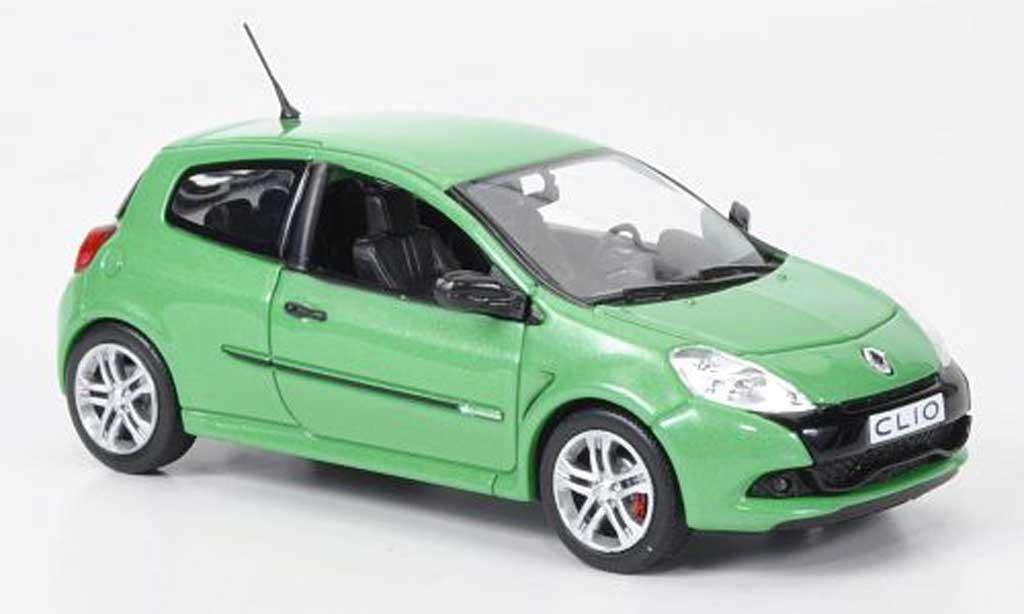 Renault Clio 3 RS 1/43 Norev Clio  verte 2009 miniature