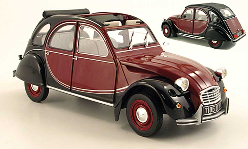 Citroen 2CV 1/18 Norev Charleston red/black 1982 diecast