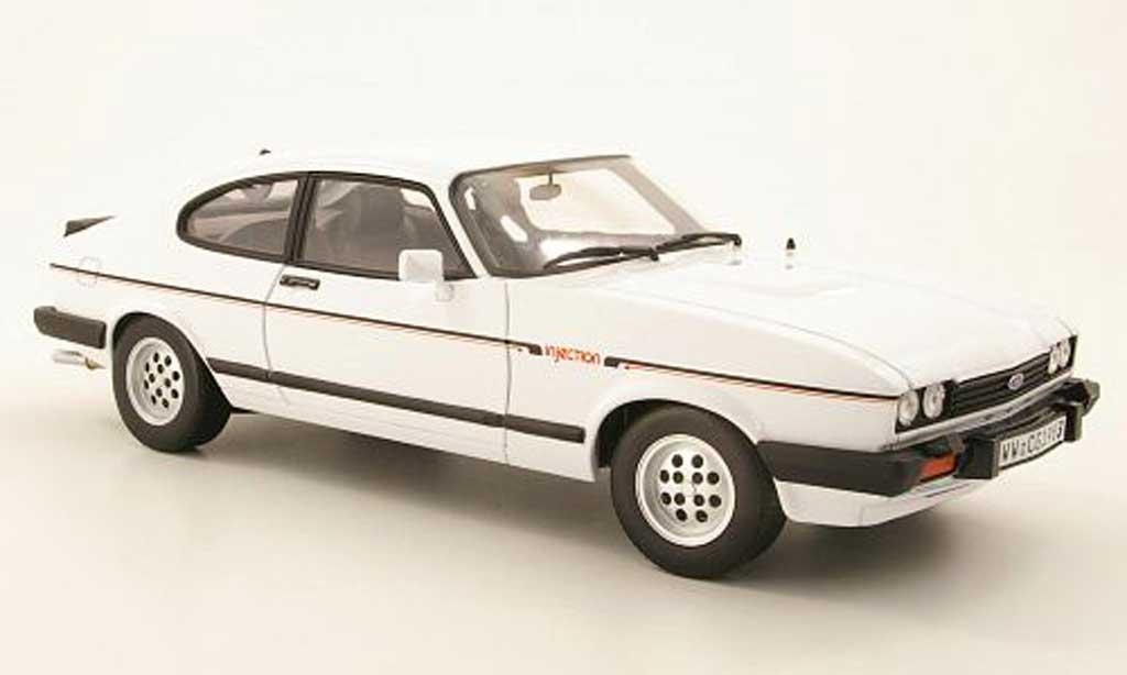 Ford Capri 1/18 Norev MK III 2.8i blanche 1982 miniature