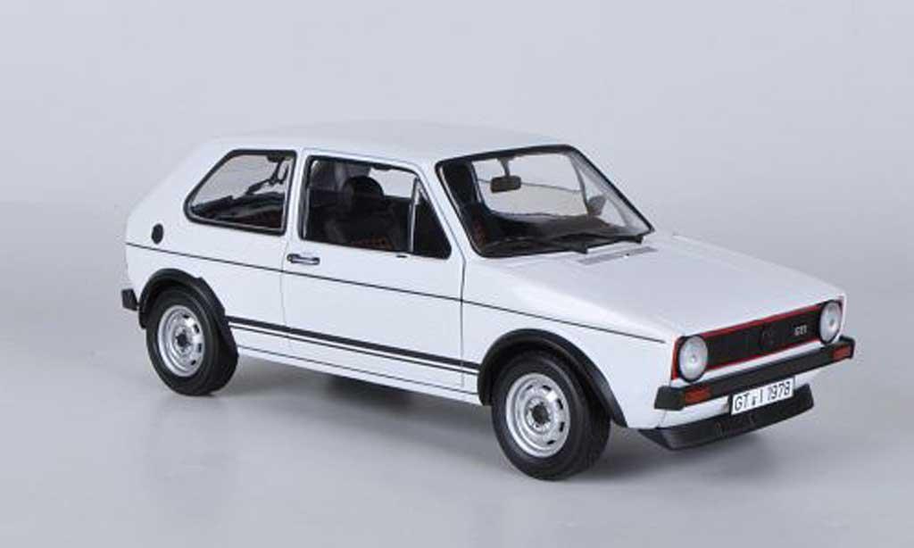 Volkswagen Golf 1 GTI 1/18 Norev weiss 1977