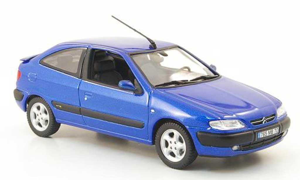 Citroen Xsara 1/43 Norev VTS bleu 3-portes 1997 miniature