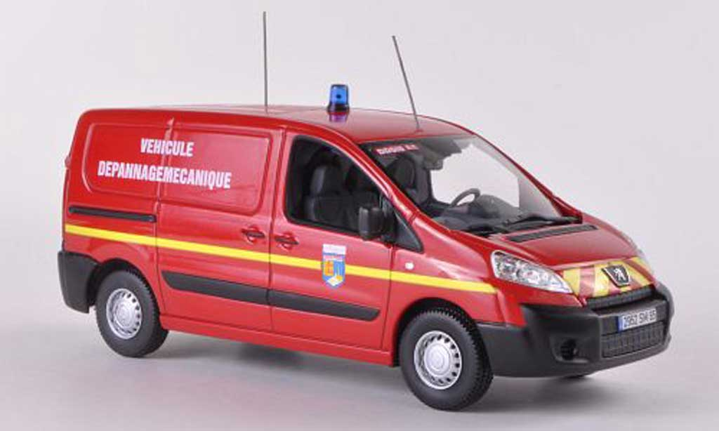 Peugeot Expert 1/43 Norev Kasten Pompiers Vehicule Depannage Mecanique Feuerfehr (F) 2007 modellautos