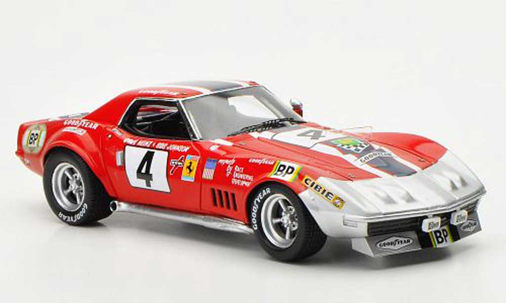 Chevrolet Corvette C3 1/43 TrueScale Miniatures No.4 NART D.Heinz / B.Johnson 24h Le Mans 1972 diecast model cars