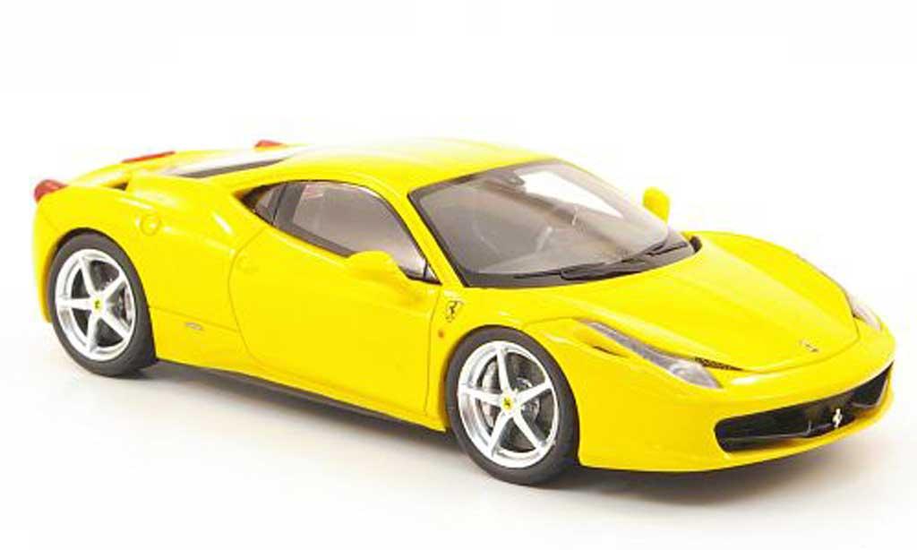 Ferrari 458 Italia 1/43 Fujimi Italia yellow 2010