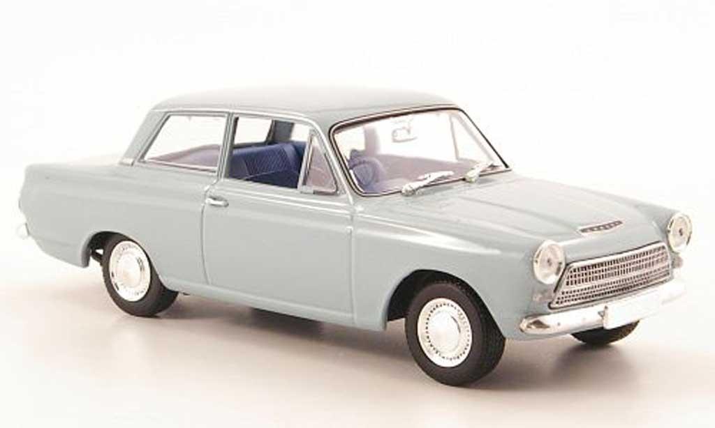 Ford Cortina 1/43 Minichamps MKI grisebleu 1963 miniature