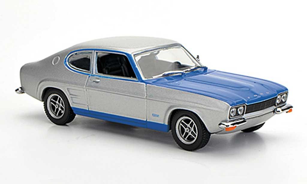 Ford Capri 2600 1/43 Minichamps MKI  gris/azul 1972 miniatura