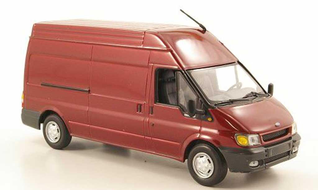 Ford Transit 1/43 Minichamps Kasten Hochdach rouge 2000 miniature