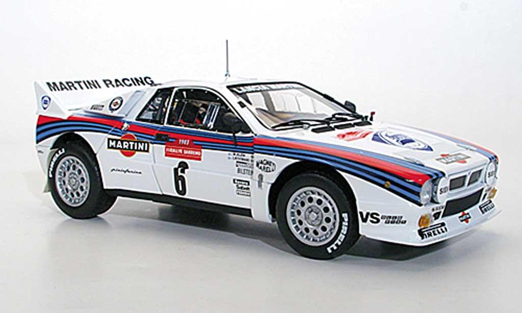 Lancia 37 1/18 Kyosho Rally No.6 Martini M.Alen/I.Kivimaki Rally San Remo 1983 miniature