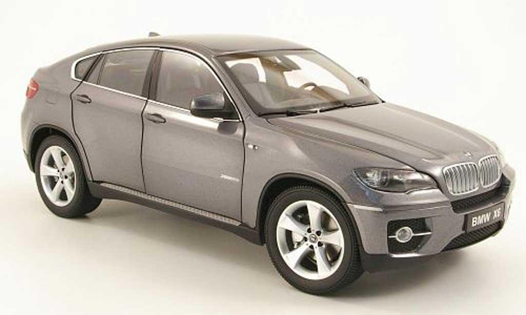 Bmw X6 E71 1/18 Kyosho xdrive 50i grise miniature