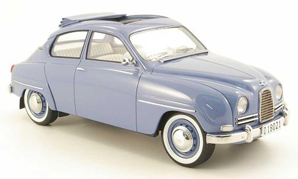 Saab 96 1/18 Neo bleu 1963 miniature