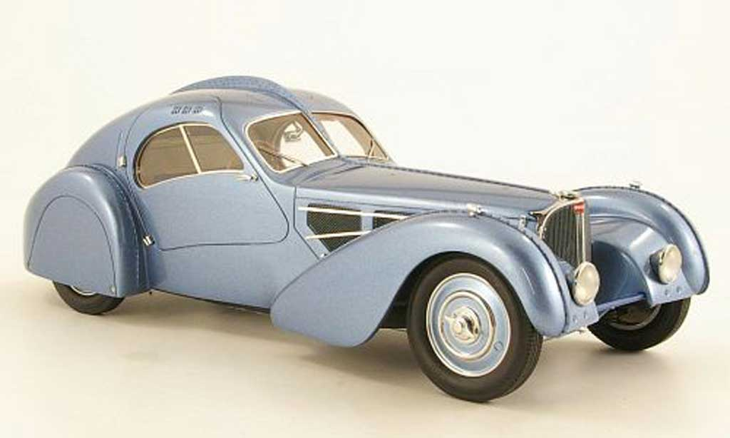 Bugatti 57 SC 1/18 Neo Atlantic grise metallisee bleu 1932 miniature