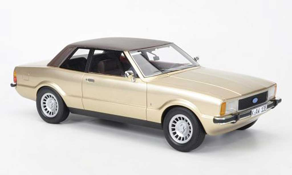 Ford Taunus 1/18 Neo TC2 Ghia or/marron 1976 miniature