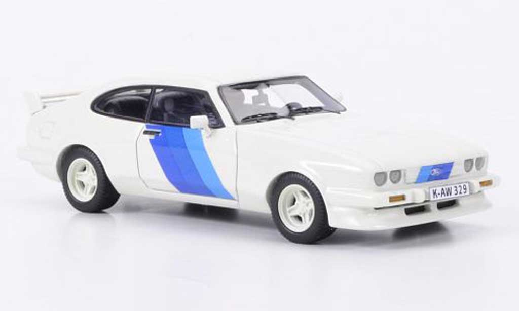 Ford Capri 1981 1/43 Neo MKlll Turbo blanche Motorsport miniature