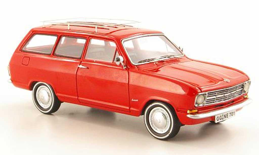 Opel Kadett B 1/43 Neo Caravan rosso  1971 miniatura