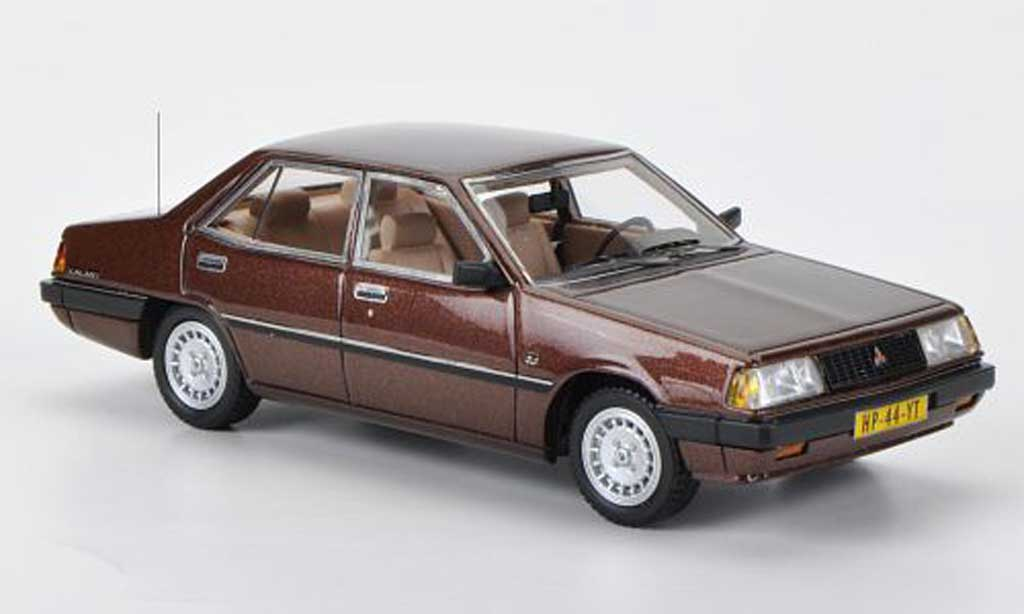 Mitsubishi Galant 2000 GLX 1/43 Neo (A160) marron 1981 miniature