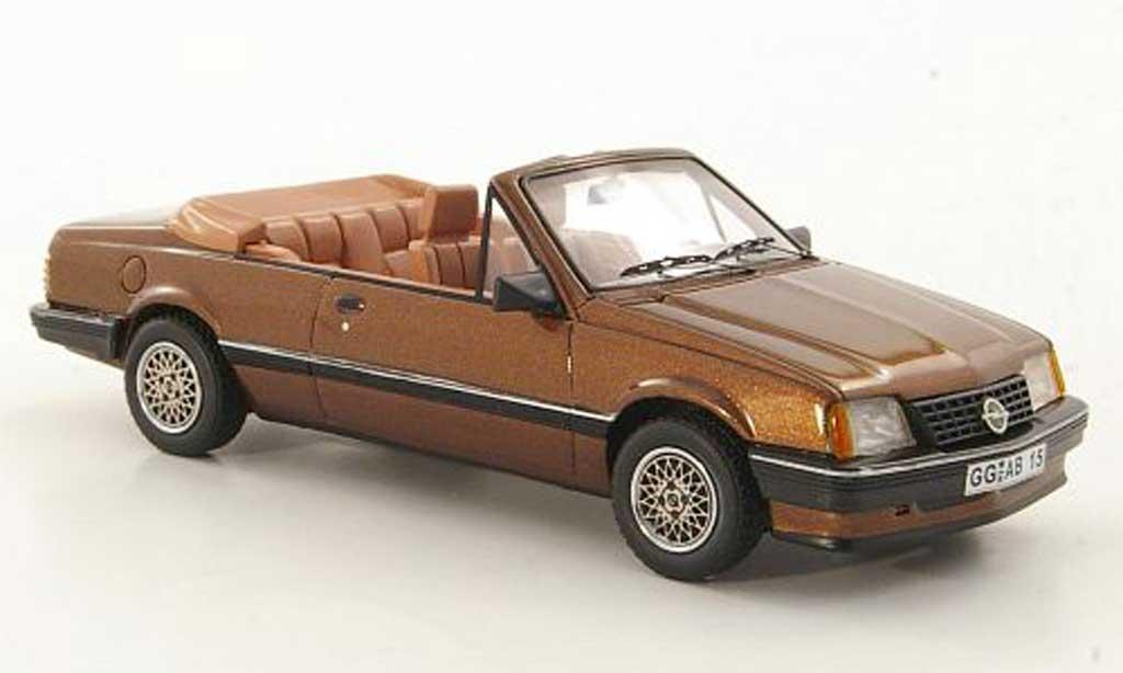 Opel Ascona C 1/43 Neo Cabriolet marron 1987 miniature