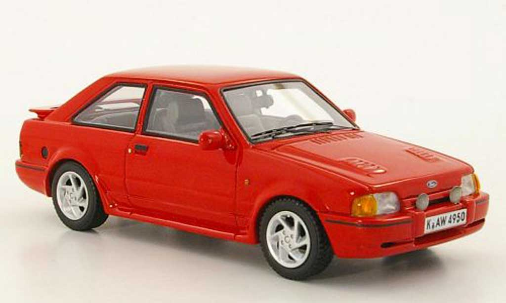 Ford Escort MK4 1/43 Neo MkIV  Turbo rouge 1989 miniature