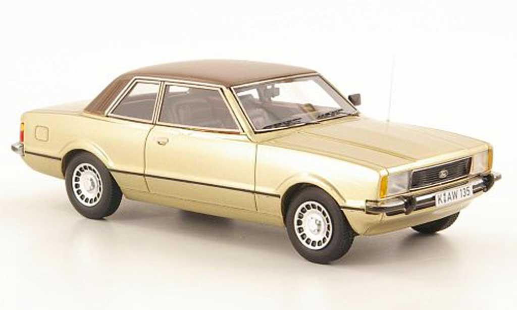 Ford Taunus 1976 1/43 Neo TC2 Ghia dore/brun miniature
