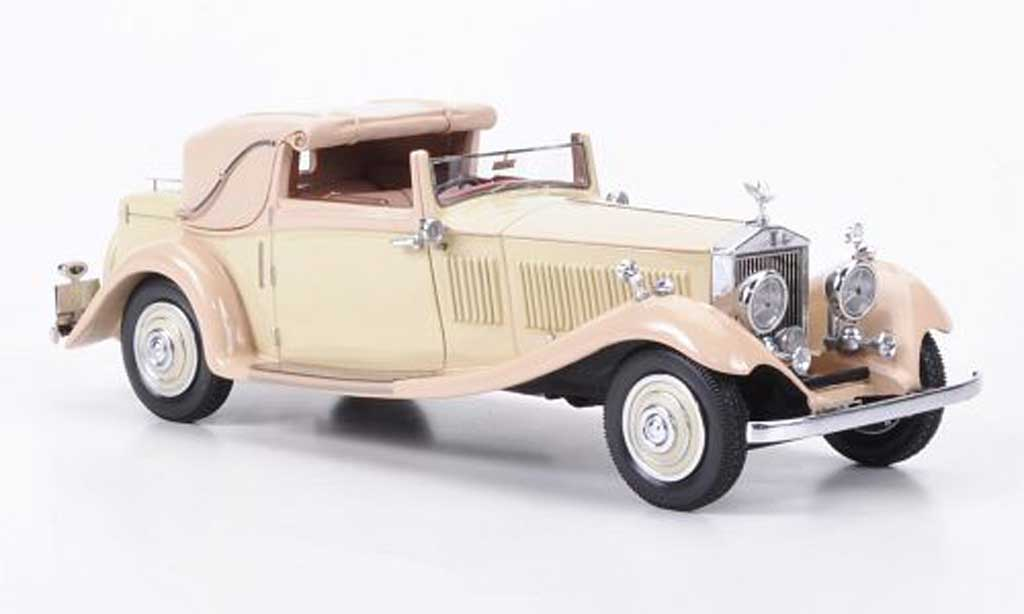 Rolls Royce Phantom 1934 1/43 Neo II Owen Sedanca Coupe J. Gurnney Nutting & Co. beige/beige miniature