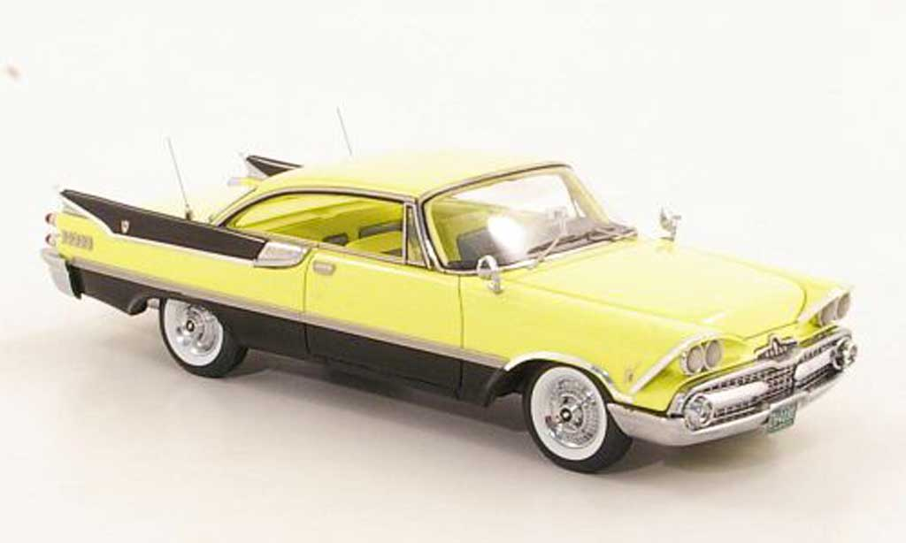 Dodge Custom Royal Lancer 1/43 Neo 2-Door Hardtop Coupe yellow/black 1959 diecast model cars