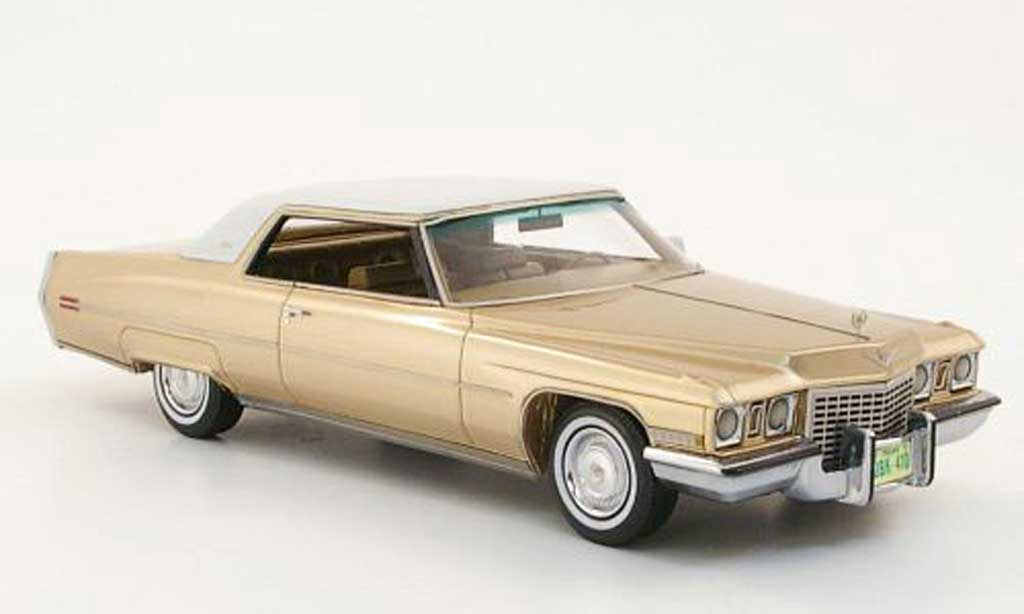 Cadillac Deville 1972 1/43 Neo Coupe gold/white diecast