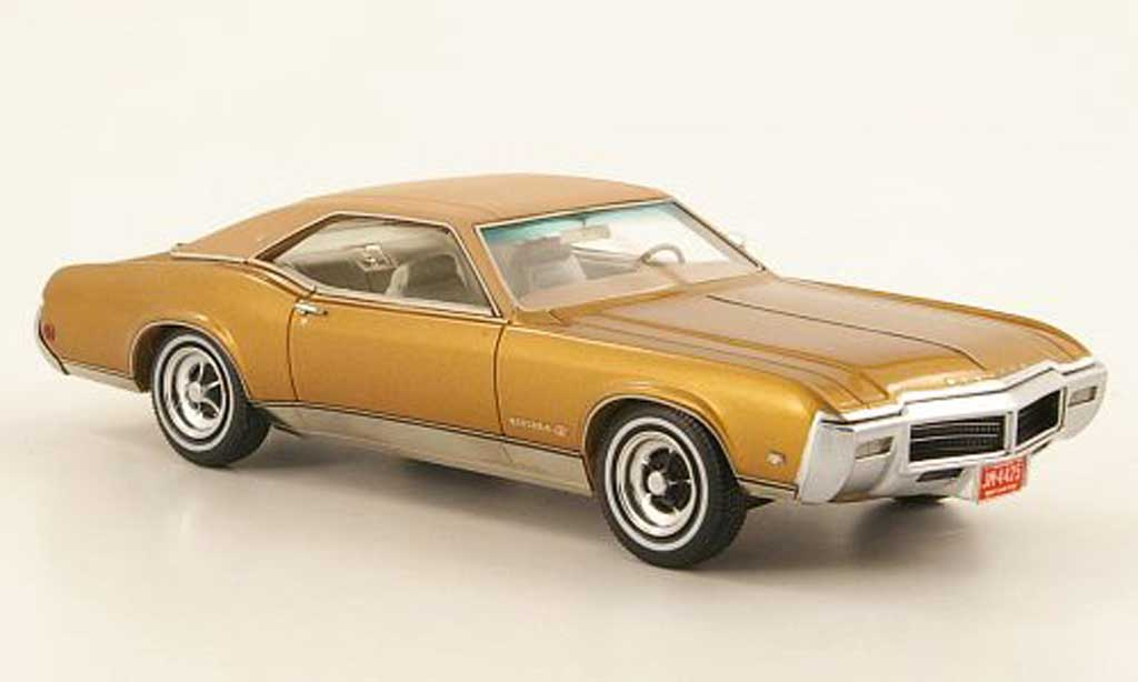 Buick Riviera 1969 1/43 Neo GS gold/marron miniature