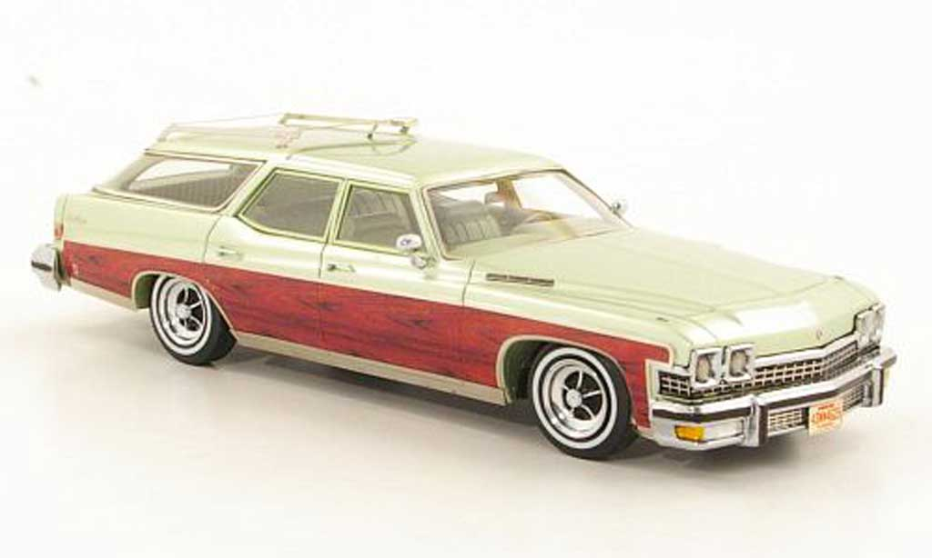 Buick Le Sabre 1/43 Neo Wagon grun/bois 1974 miniature