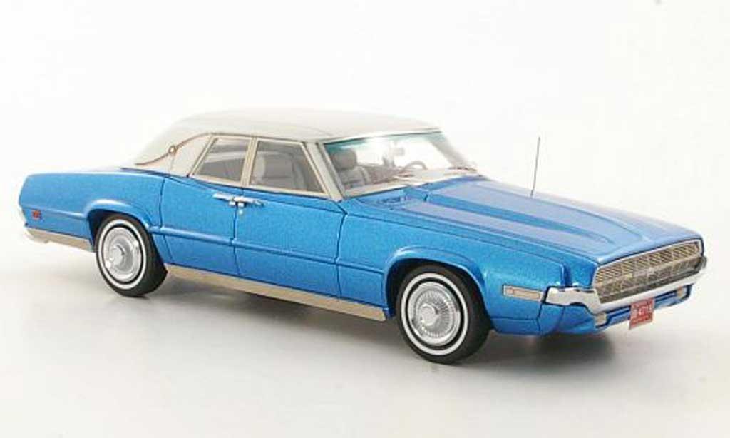 Ford Thunderbird 1969 1/43 Neo Landau bleu/blanche miniature
