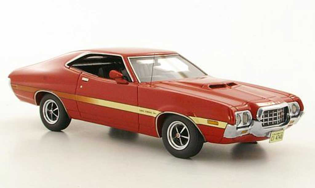 Ford Gran Torino 1/43 Neo Sport SportsRoof rouge 1972 miniature
